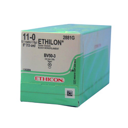 2881G ETHILON BLACK 11-0 3/8 CIRCLE ROUND BODY TAPERPOINT BV 50-3 3.8MM