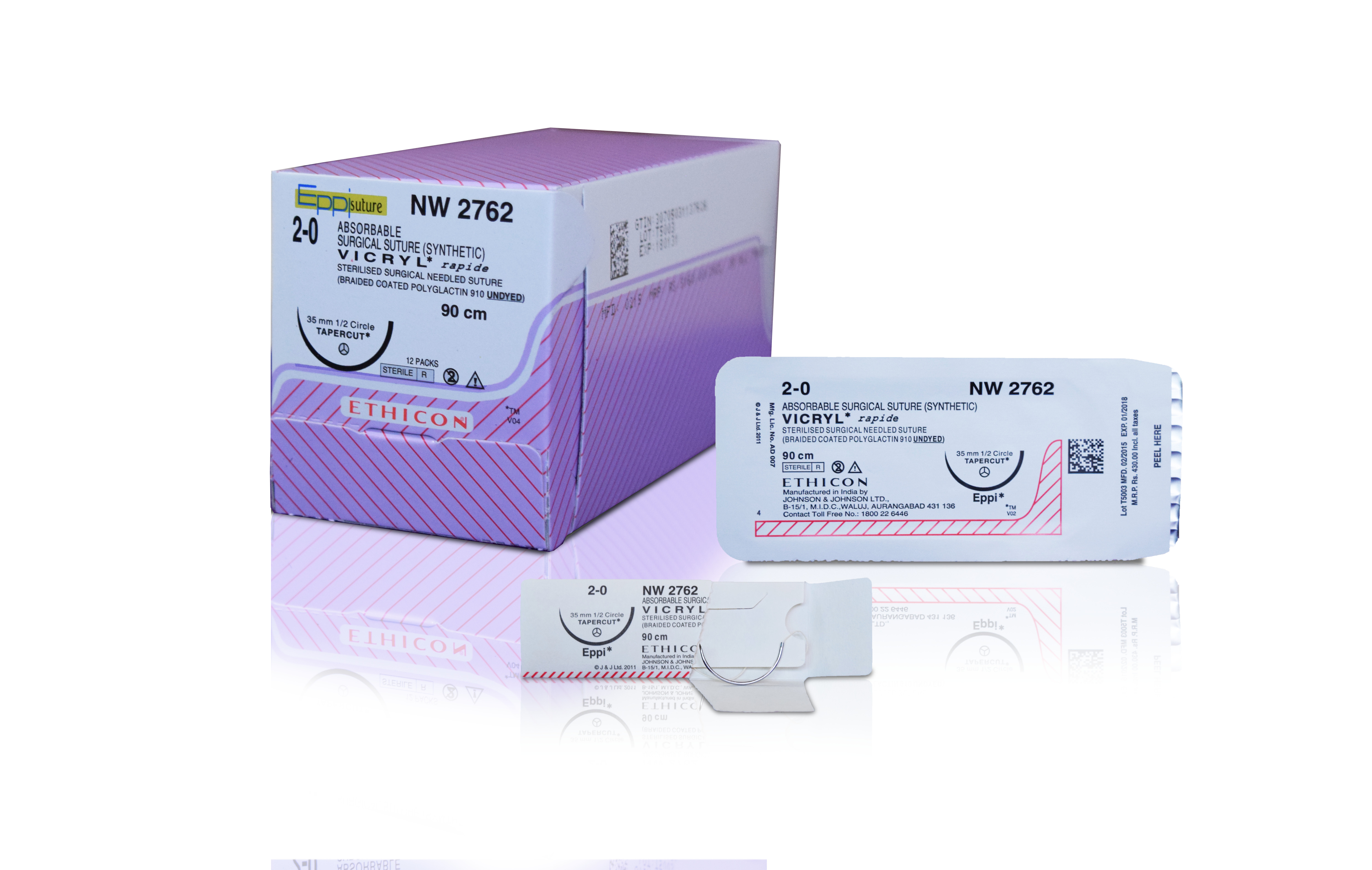 NW2777 +VICRYL RAPIDE 2-0 1/2 RBC 36MM