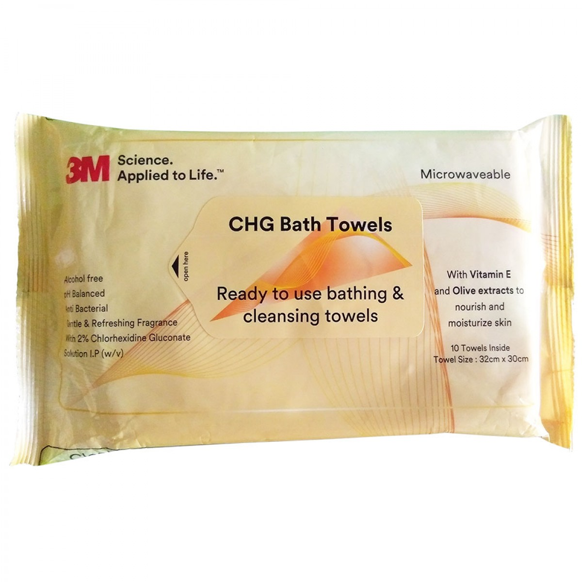 3M CHG BATH TOWELS
