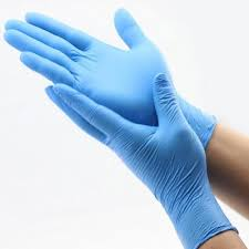 +BLUE NITRILE EXAM GLOVES-BOX OF 100 PC