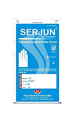 SERJUN GLOVES STERILE LATEX POWDERED 6.5