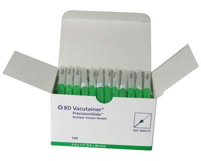 360213 BD VACUTAINER PRECISION GLIDE NEEDLE 21GX1.5