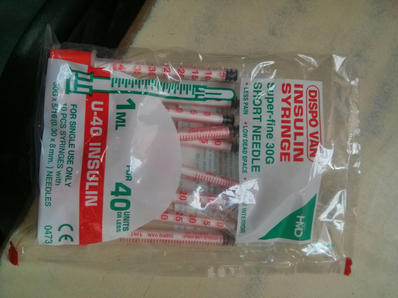 DISPOVAN 1ML INSULIN SYRINGE 40 U (30G) MULTI PACK