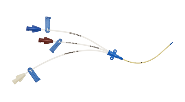 CVC SET PEDIATRIC MULTI-LUMEN WITH BLUE FLEXTIP 3-LUMEN 4FR X 8CM